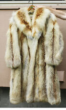 Womens Top End Fox Fur Full Coat Wong Jianhua Beijing Size 12 Ladies GORGEOUS