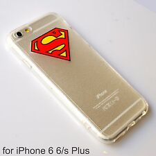 Superman iPhone 6 Plus / 6s Plus Transparent Soft Silicone Back Cover Case