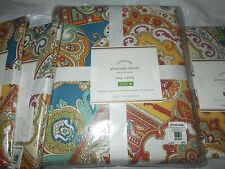 POTTERY BARN ALVARADO DUVET COVER, KING/CAL KING+3 SHAMS, NEW