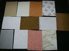 JobLot CREATIVE Handmade Paper Pack 12 Sheets A5  TEXTURED Embroidered Glittered