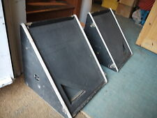 "Pair of vintage pa stage wedge speakers 60s 70s 12"" band retro guitar monitor"
