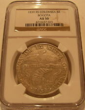 Colombia 1839 RS Silver 8 Reales NGC AU-50 Bogota