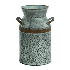 Benzara 93992 Antique Styled Metal Galvanized Milk Can