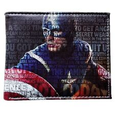 MARVEL AVENGERS SUPEREROI CAPITAN AMERICA STAMPA Faux Leather bifolding WALLET