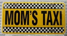 Mom's Taxi License Plate Aluminum Car Auto Tag Vanity Sign Metal Embossed Mother