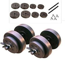 Golds Gym 40 Lb Adjustable Dumbbell Set Vinyl Hand Weight Lift Body Workout NEW