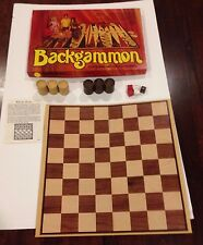 Vintage Double Set Backgammon plus Checkers Board Game. By Plesantime Games 1973