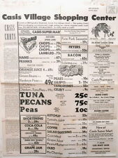 Poster Flyer Casis Village Grocery Shopping Ctr Exposition Austin Texas 1955 #2