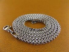 "Women/Men's Stainless Steel Necklace 24""3mm Chain Cubic Link Charm Jewelry Cool"