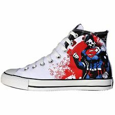 CONVERSE SCHUHE ALL STAR CHUCKS UK 10 EU 44 SUPERMAN WEISS ROT MARVEL DC COMIC