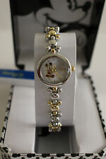 New Disney  Mickey Mouse two tone ladies watch, new/warranty+FREE GIFT