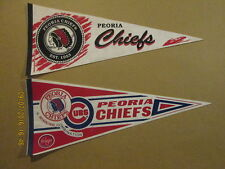 Midwest League Peoria Chiefs Lot of 2 Baseball Pennants