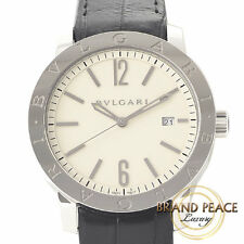 BVLGARI Bvlgari Bvlgari Bvlgari BB41S mens watch ivory dials Edition leather