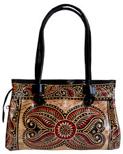 Exclusive Batik Design LADIES BAG Shantiniketan 100% Pure Leather Bag