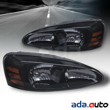 2004-2008 Pontiac Grand Prix Black Headlights Replacement Lamps Pair