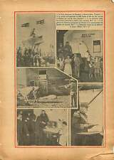 Monument WWI Georges Guynemer Malo-les-Bains Dunkerque France 1934 ILLUSTRATION
