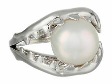 Stephen Webster Les Dents De La Mer Jaw Ring with Pearl in Sterling Silver - 7