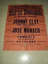 AFFICHE BELGE JOHNNY CLAY JOSE MONACO ATHUS SELECT-CENTRAL