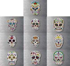 Sugar skull Mega 10 pack day of the dead sticker 7 yr water & fade proof vinyl