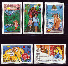 CENTRAL AFRICA 1979 CHILDREN'S FAIRY TALES  INTL YR OF THE CHILD SET SCT 393-97