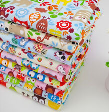 Set of 9 Assorted Owl Patchwork 50x50cm Pre-Cut Cotton Quilting Fabrics Bundle