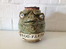 Unusual Signed Mr. C Studio Pottery Frog Form Frog Farts Jar