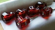 "Lot 20 Ruby Red Glass Knobs Pulls Vintage Depression Style 1-1/4"" Free Shipping"