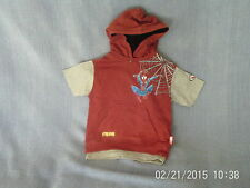 Boys 3 Years -  Red/Grey Sleeveless Hoodie/ T-Shirt - Spider-Man - Next