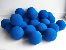 25 blue no bounce foam sponge 65mm balls soft play juggling throwing balls new