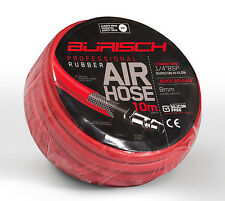 Air hose 10m rubber - 8mm ID - Quick release Hi-flow Euro Fittings - Burisch