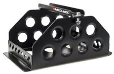 Motamec Std Size Alloy Car Battery Tray Aluminium Box Holder Black Powder Coated