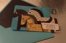 Starbucks Korea New Year Blue Horse Card with Matching Sleeve Rare HTF