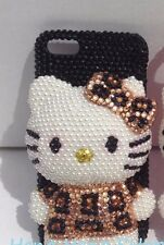 3D hello kitty iPhone crystal case bling diamond cover+phone holder cable winder