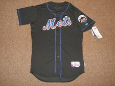New York Mets Black Home Blank Cool Base Authentic Jersey sz 44 Majestic New Men