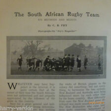 Balloon Race South Africa Rugby Football Springboks NZ Old Antique Article 1906