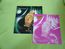 Rolex Oyster Watch Catalogue and UK Price List 1996/7