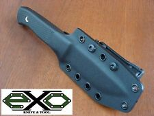 Custom Kydex Sheath for Fallkniven, F1 - Black with Large TekLok
