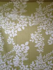 Crate and & Barrel MARIMEKKO KUKKULA Green/White SHOWER CURTAIN-Small Defect