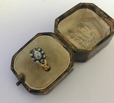 A Lovely 2ct Old Cut Diamond Cluster Ring Circa 1800's