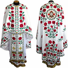 Greek or Russian Orthodox Priest Vestment Fully Embroidered Ukrainian Rose