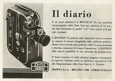 Y0079 Cinepresa MOVIKON 16 - Zeiss Ikon IKONTA - Pubblicità 1938 - Advertising
