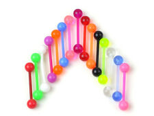 10PCS Glow Ball Tongue Rings Body Piercing Belly Navel Button Ring Stud