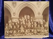 Genuine Victrorian black and white photograph of an all Boy's School
