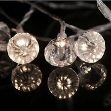 10 LED Jewel Diamond String Lights - Battery Operated - Indoor Use