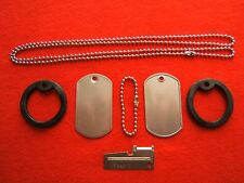 US Military/Boy Scout Dog Tags Kit P-38,Silencer,chain, 2 blank tags personalize