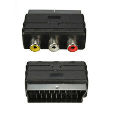 New SCART Male Plug to 3 RCA Female A/V Video Adaptor Converter for TV Stunning