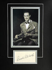 BOOTS RANDOLPH - LEGENDARY SAXOPHONE PLAYER - EXCELLENT SIGNED DISPLAY