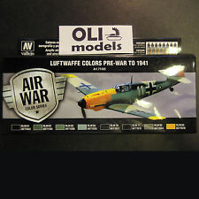 AIR WAR Luftwaffe Colors Pre-War to 1941 Acrylic Paint Set 8x17ml  Vallejo 71165
