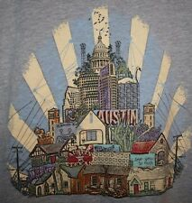 Mens GOOGLE FIBER Austin ATX Texas TX Keep Weird Wired Canvas T Shirt slim XL