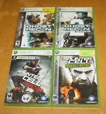 XBOX 3 4 GAME LOT 2 GHOST RECON AND 2 SPLINTER CELL FREE SHIPPING